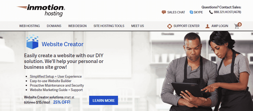 InMotion homepage hosting with free ssl certificate