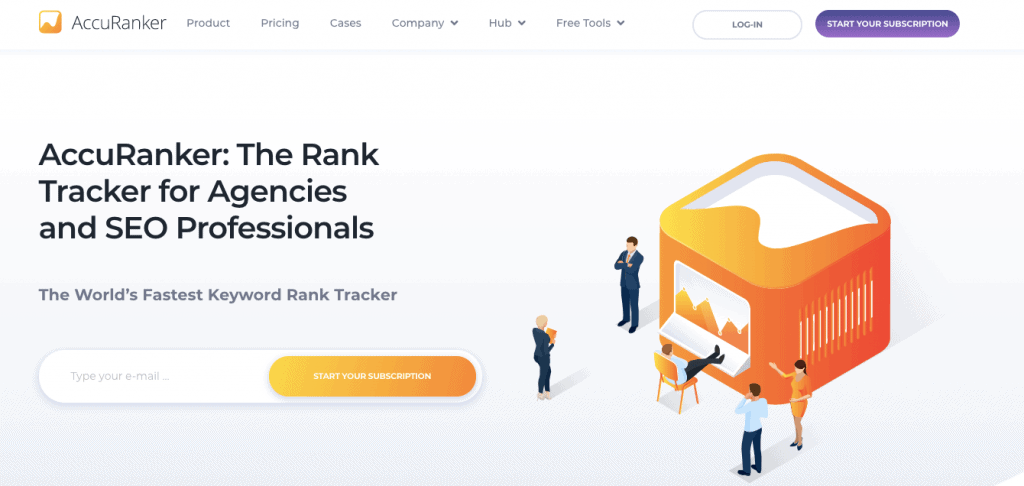 Accuranker rank tracking tools