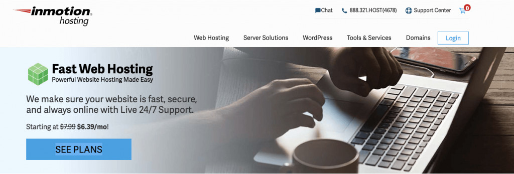 Inmotion Hosting hosting with cPanel