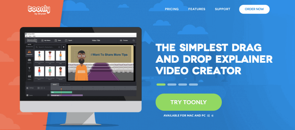 Toonly whiteboard animation software