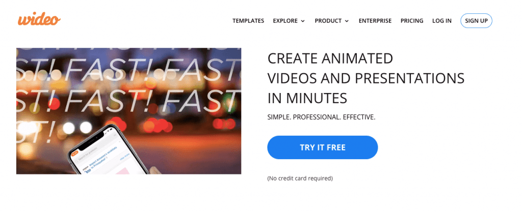 Wideo whiteboard animation software
