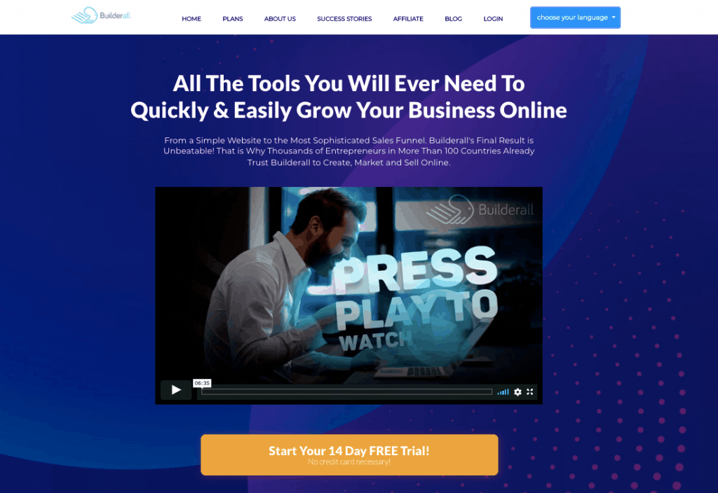 Builderall sales funnel software