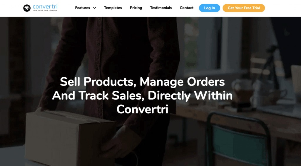 Convertri funell builder sales funnel software