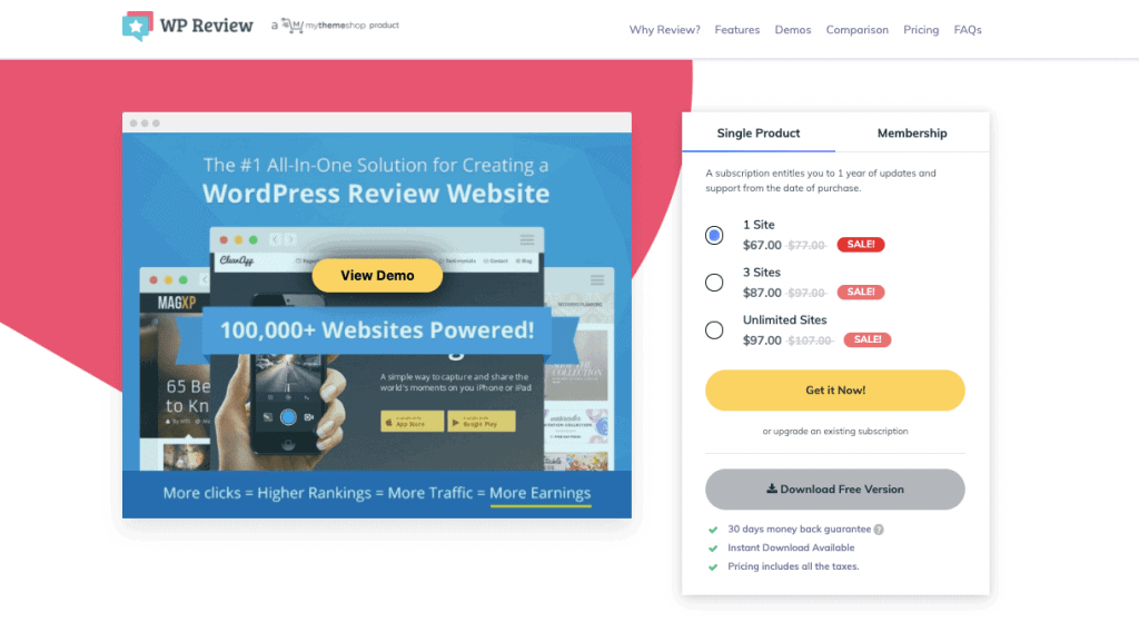 WP Review Pro By MyThemeshop schema markup plugins