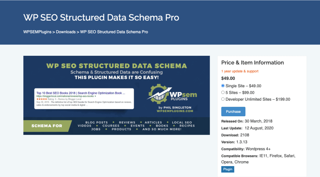 WP SEO Structured Data Schema schema markup plugins