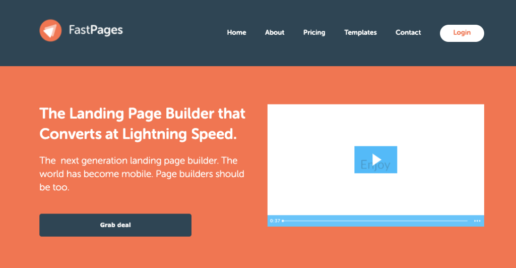 FastPages.io best landing page builder