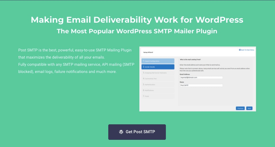PostMan SMTP WordPress SMTP Plugin