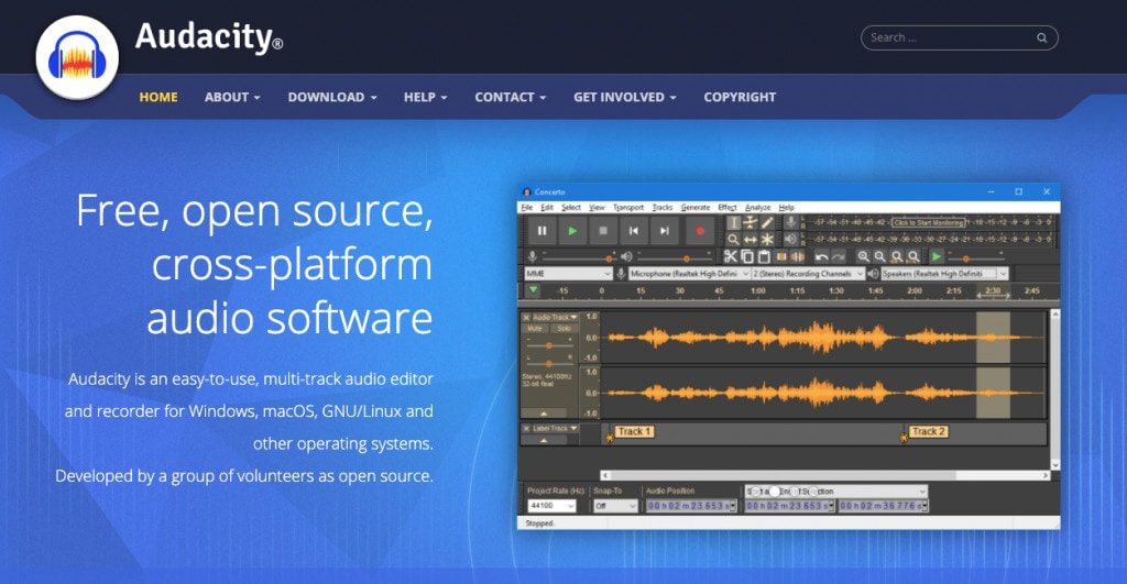 Audacity Best Podcast Editing Software