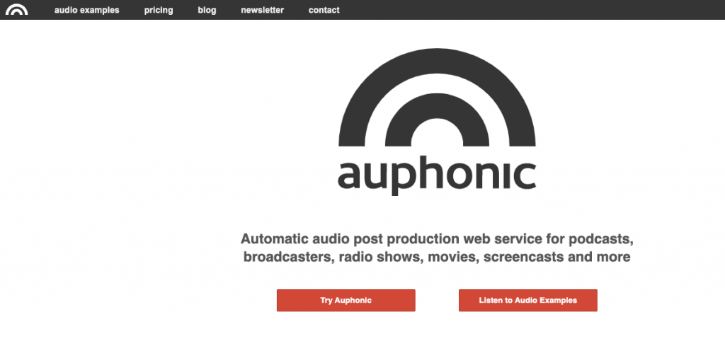 Auphonic software Best Podcast Editing Software