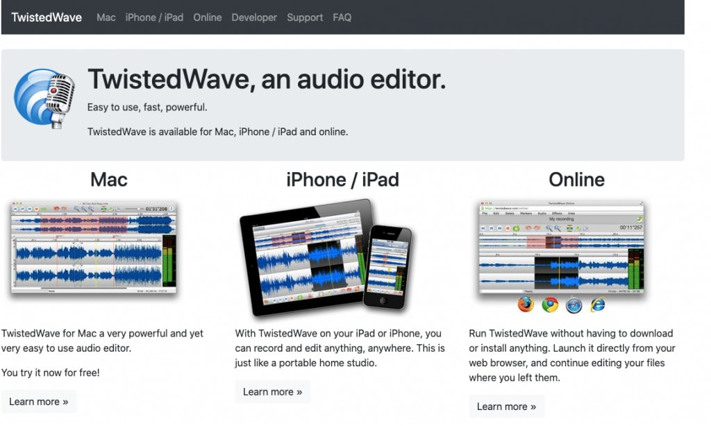 Twistedwave Software Best Podcast Editing Software