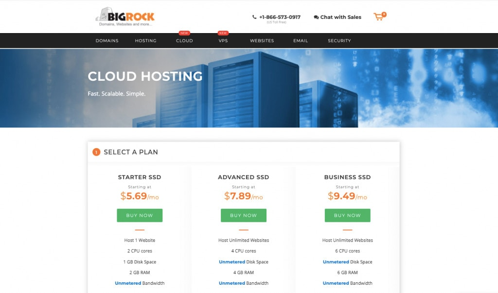 BigRock Cloud Hosting Best Cloud Hosting