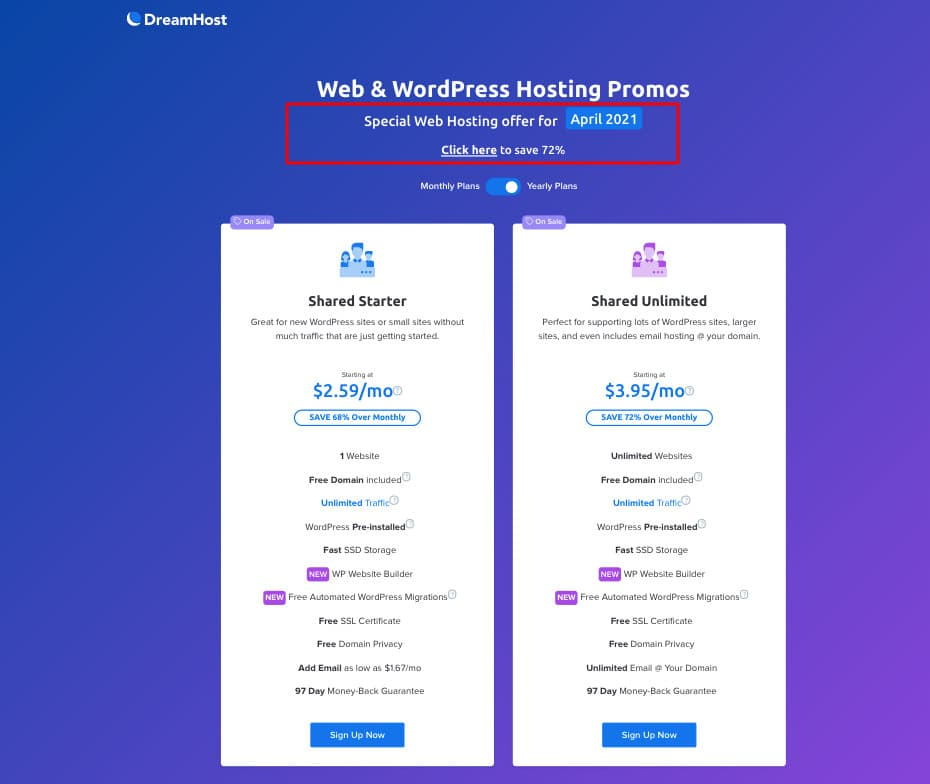 DreamHost 72 Off dreamhost coupon