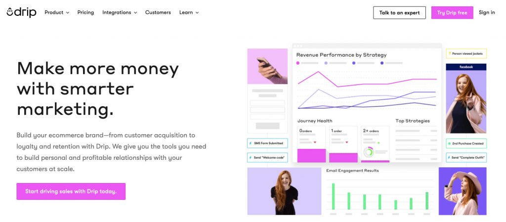 Drip Best Email Marketing Apps for Shopify
