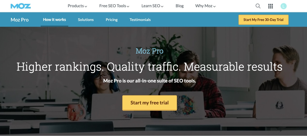 Moz Pro serp tracking tools